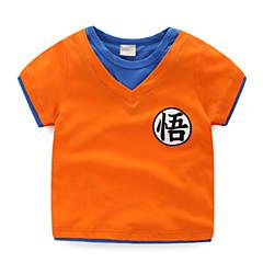billige Babyoverdele-Baby Unisex Trykt mønster Kortærmet T-shirt