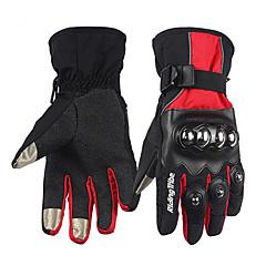tanie Rękawiczki motocyklowe-RidingTribe Full Finger Dla obu płci Rękawice motocyklowe Skórzany / Tkanina bawełniana Wodoodporny / Keep Warm / Ekran dotykowy