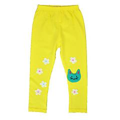 billige Bukser og leggings til piger-Børn Pige Kat Ensfarvet Bukser