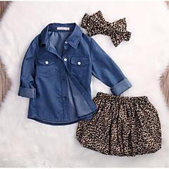 رخيصةأون مجموعات ملابس البيبي-مجموعة ملابس كم طويل طباعة فتيات طفل