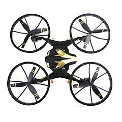 billige Fjernstyrte quadcoptere og multirotorer-RC Drone NH009 RTF 4 Kanaler 6 Akse 2.4G Fjernstyrt quadkopter Hodeløs Modus Fjernstyrt Quadkopter / Fjernkontroll / 1 Batteri Til Drone