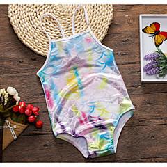 billige Badetøj til piger-Børn Pige Regnbue Uden ærmer Badetøj