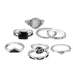 billige Motering-Herre Tau stables Band Ring Ringer Set - Klassisk Lolita, Punk Lolita, Land Lolita Sølv Til Fest Halloween / 8pcs
