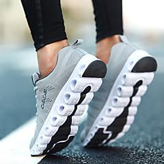baratos Tênis de Corrida-Homens Tênis de Corrida Borracha Caminhada / Corrida / Cooper Leve, Almofadado, Respirabilidade Tule Cinzento Escuro / Azul / Cinzento