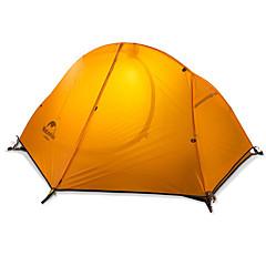 billige Telt og ly-Naturehike 1 person Turtelt Dobbelt Lagdelt Stang Kuppel camping Tent Utendørs Regn-sikker, Hold Varm, Sammenleggbar til Camping & Fjellvandring / Jakt >3000 mm Silikon, Nylon 205*156*110 cm