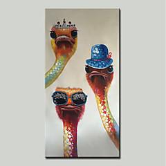 cheap -Oil Painting Hand Painted - Cartoon / Pop Art Modern Canvas