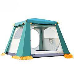 billige Telt og ly-utendørs Familie Camping Telt Hold Varm Støvtett Automatisk Telt med flere rom Dobbelt Lagdelt Telt til Camping & Fjellvandring Andre Material