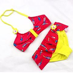 billige Badetøj til piger-Børn Pige Ensfarvet / Geometrisk Uden ærmer Badetøj