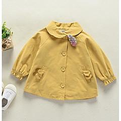 billige Overtøj til babyer-Baby Pige Ensfarvet Langærmet Trenchcoat