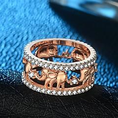 billige Motering-Dame Elegant Band Ring Ring - 18K Gullbelagt, Kobber, Gullplatert rose Elefant Vintage, Overdrivelse, Hip-hop 5 / 6 / 7 / 8 / 9 Gull / Rose Gull Til Karneval Bar / Fuskediamant