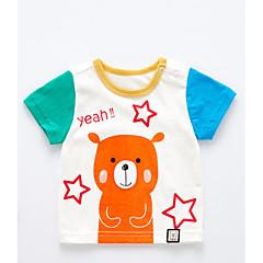 baratos Roupas de Meninos-Bébé Para Meninos Activo Estampado Manga Curta Algodão Camiseta