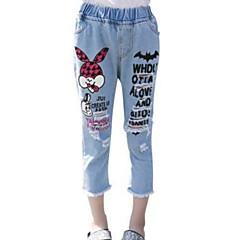 baratos Roupas de Meninas-Infantil Para Meninas Estampado Shorts