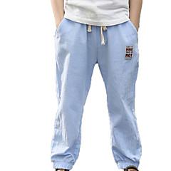 billige Drengebukser-Børn Drenge Aktiv Ensfarvet Bomuld Bukser