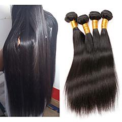 Χαμηλού Κόστους Ρεμί Εξτένσιον από Ανθρώπινη Τρίχα-Remy Τρίχα ύφανση μαλλιά Η καλύτερη ποιότητα / Νέα άφιξη / Hot Πώληση Ίσιο Βραζιλιάνικη Μεσαίο Μήκος 400 g 1 Χρόνος Καθημερινή Ένδυση / Γαμήλιο Πάρτι / Δέκατα Πέμπτα & Δέκατα Έκτα Γενέθλια