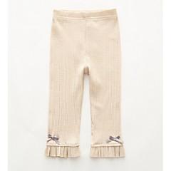 billige Bukser og leggings til piger-Børn Pige Aktiv Ensfarvet Polyester Leggings Lyserød 100