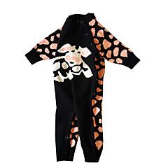 billige Babytøj-Baby Pige Basale Ensfarvet / Leopard Langærmet Bomuld Overall og jumpsuit