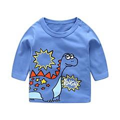 baratos Roupas de Meninos-Bébé Para Meninos Dragão Estampado Manga Longa Camiseta