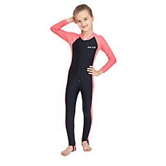 billige Badetøj til piger-Børn Pige Aktiv / Sexet Sport / Strand Ensfarvet Halvlange ærmer Bomuld Badetøj