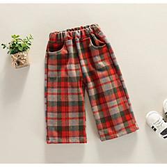 billige Bukser og leggings til piger-Børn Pige Ternet Bukser