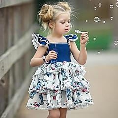 billige Babykjoler-Baby Pige Geometrisk Uden ærmer Kjole
