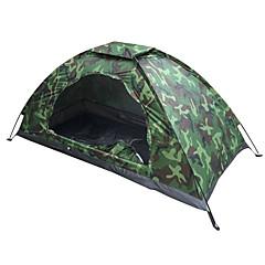 billige Telt og ly-1 person Turtelt Med enkelt lag Stang camping Tent Utendørs Lettvekt, UV-bestandig, SPF35 til Fisking / Camping / Vandring / Grotte Udforskning 1500-2000 mm Oxfordtøy 200*100*100 cm