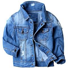 Χαμηλού Κόστους Μπουφάν και παλτό για αγόρια-Παιδιά Αγορίστικα Βασικό Μονόχρωμο Μακρυμάνικο Πολυεστέρας Κοστούμι & Σακάκι Θαλασσί