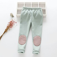 baratos Roupas de Meninas-Infantil / Bébé Para Meninas Sólido Leggings