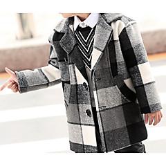 billige Jakker og frakker til drenge-Børn / Baby Drenge Basale Farveblok Langærmet Bomuld dun- og bomuldsforet