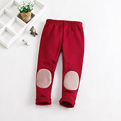 billige Bukser og leggings til piger-Børn / Baby Pige Ensfarvet Leggings