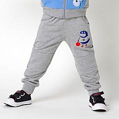 billige Drengebukser-Børn Drenge Aktiv Trykt mønster Bomuld / Polyester Bukser Mørkegrå