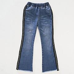 billige Jeans til piger-Børn Pige Basale Ensfarvet Bomuld Jeans