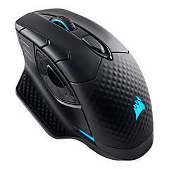 Χαμηλού Κόστους Ποντίκια-USCORSAIR Ενσύρματο USB / Ασύρματο Bluetooth Gaming Mouse / γραφείο του ποντικιού Οπτικό DARK CORE RGB 9 pcs κλειδιά RGB φως 7 προγραμματιζόμενα πλήκτρα 16000 dpi