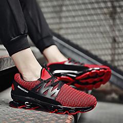 tanie Buty do biegania-Męskie Bieganie Guma Bieganie / Jogging Lekki, Anti-Shake, Oddychalność Tiul Biały / Czarny / Czerwony