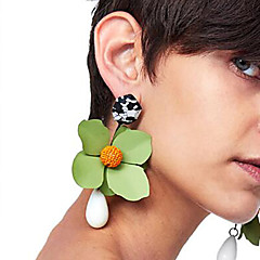 cheap -Drop Earrings - Floral / Botanicals, Flower Fashion Red / Green / Royal Blue For Party / Date / Street