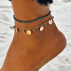 baratos Bijoux de Corps-Clássico / Contas tornozeleira - Dourado / Prata Para Presente / Diário / Mulheres