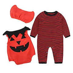 billige Sett med babyklær-Baby Pige Afslappet / Aktiv Fest / Ferie Stribet / Trykt mønster Trykt mønster Langærmet Bomuld Tøjsæt
