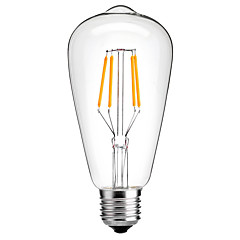 1pc 4 W 360 lm E26 / E27 LED Filament Bulbs ST64 4 LED Beads COB Decorative Warm White / Cold White 220-240 V / RoHS