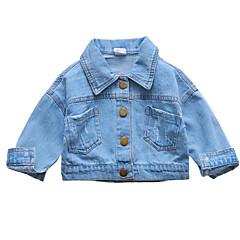billige Overtøj til babyer-Baby Pige Ensfarvet Kortærmet Jakke og frakke