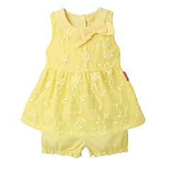 billige Sett med babyklær-Baby Pige Basale Prikker Uden ærmer Tøjsæt