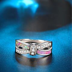 billige Motering-Dame Opal / Kubisk Zirkonium Tau Statement Ring / Løftering - Gullbelagt Kunstnerisk, Bohemsk, Fransk 6 / 7 / 8 Sølv Til Bryllup / Klubb