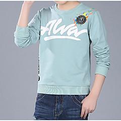 baratos Roupas de Meninos-Infantil Para Meninos Estampado Manga Longa Camiseta