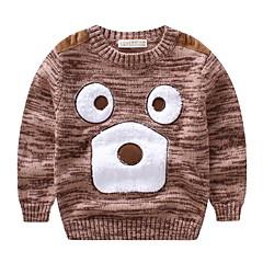 billige Sweaters og cardigans til drenge-Børn Drenge Basale Daglig Patchwork Patchwork Langærmet Normal Bomuld / Akryl Trøje og cardigan Brun