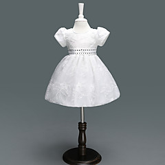 billige Babykjoler-Baby Pige Sun Flower Trykt mønster / Jacquard Vævning Kortærmet Kjole
