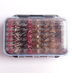 billiga Fiskbeten och flugor-112 pcs Fiske krokar / Fiskekit / Fiske Verktyg Flugor Fjädrar / Kolstål Enkel att installera / Lätt och bekvämt Sjöfiske / Flugfiske / Kastfiske / Karpfiske / Drag-fiske / Generellt fiske