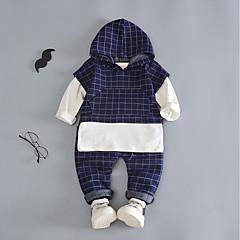 tanie Odzież dla chłopców-Dzieci Dla chłopców Aktywny Wyjściowe Kratka Długi rękaw Bawełna Komplet odzieży