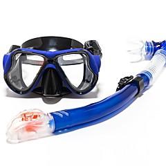 billiga Dykmasker, snorklar och simfötter-Snorklingspaket / Dykning Paket Anti-Dimma, 180° Två Fönster - Dykning, Snorkelfenor Silikon Gummi - för Vuxen Gul / Blå / Rosa