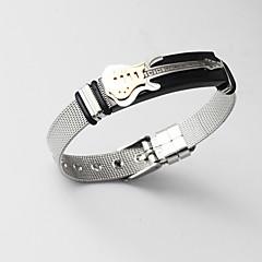 cheap Men's Bracelets-Men's Classic Stylish Cuff Bracelet Loom Bracelet Link Bracelet - 18K Gold Plated, Stainless Creative, Guitar Statement, Unique Design, Fashion Bracelet Jewelry Gold For Gift Daily / Figaro Bracelet
