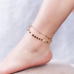 baratos Bijoux de Corps-Clássico tornozeleira - Estiloso, Clássico Dourado Para Diário / Para Noite / Mulheres