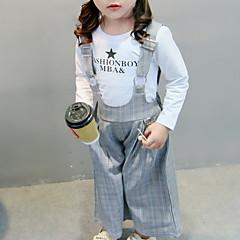 billige Sett med babyklær-Baby Pige Basale Daglig Ensfarvet Langærmet Normal Bomuld / Polyester Tøjsæt Lyserød 100