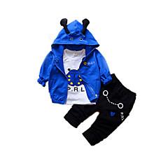 tanie Odzież dla chłopców-Dzieci Dla chłopców Aktywny / Moda miejska Szkoła Nadruk Nadruk Długi rękaw Bawełna Komplet odzieży